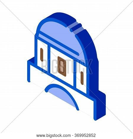 Classical Greek Building Dome Icon Vector. Isometric Classical Greek Building Dome Sign. Color Isola