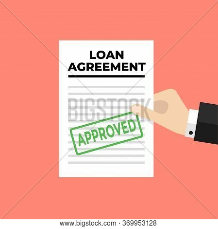 Businessman Hand Holding Loan Contract ,business Cooperation Agreement And Loan Banking.