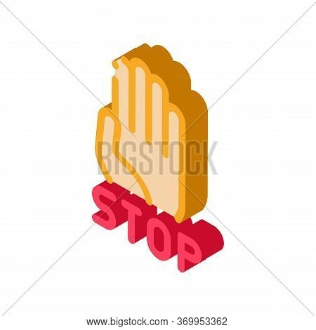 Stop Bullying Icon Vector. Isometric Stop Bullying Sign. Color Isolated Symbol Illustration