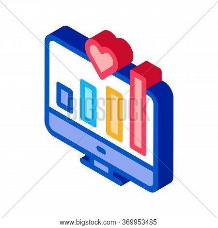 Chart Growth Indicators Icon Vector. Isometric Chart Growth Indicators Sign. Color Isolated Symbol I