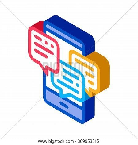 Many Telephone Messages Icon Vector. Isometric Many Telephone Messages Sign. Color Isolated Symbol I