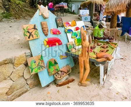 Bridgetown, Barbados - May 11, 2016: The Outdoor Shopping Center At The Main Street Of The City With