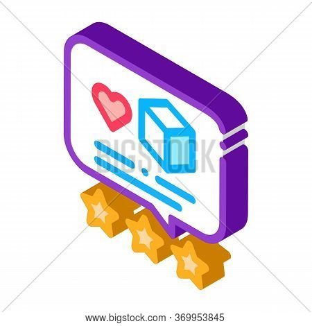 Package Delivery Estimate Icon Vector. Isometric Package Delivery Estimate Sign. Color Isolated Symb