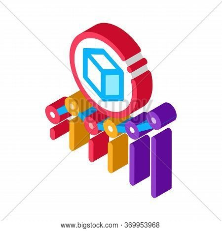 Parcel Pick-up Points Icon Vector. Isometric Parcel Pick-up Points Sign. Color Isolated Symbol Illus