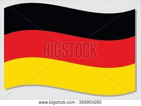 Waving Flag Of Germany Vector Graphic. Waving German Flag Illustration. Germany Country Flag Wavin I