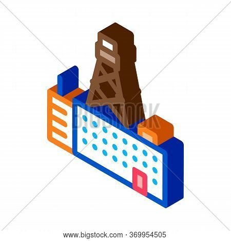 Telephone Connection Station Tower Icon Vector. Isometric Telephone Connection Station Tower Sign. C