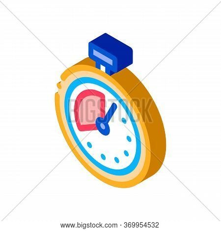Timer Stopwatch Icon Vector. Isometric Timer Stopwatch Sign. Color Isolated Symbol Illustration
