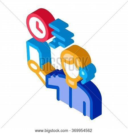 Announcer Leading Icon Vector. Isometric Announcer Leading Sign. Color Isolated Symbol Illustration