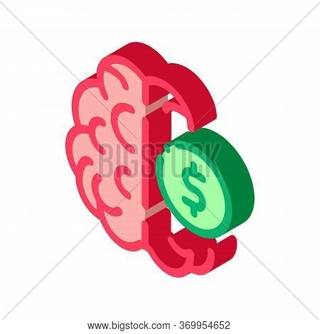 Money Brainstorming Icon Vector. Isometric Money Brainstorming Sign. Color Isolated Symbol Illustrat