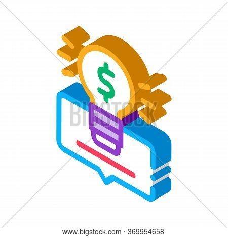 Smart Money Solution Icon Vector. Isometric Smart Money Solution Sign. Color Isolated Symbol Illustr