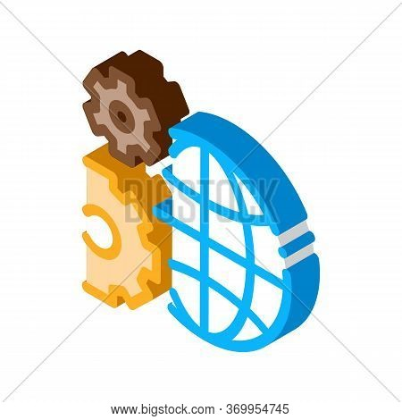 Solving Planet Problems Icon Vector. Isometric Solving Planet Problems Sign. Color Isolated Symbol I