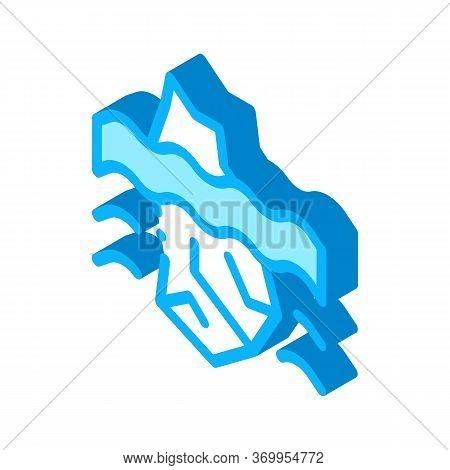 Iceberg Crash Icon Vector. Isometric Iceberg Crash Sign. Color Isolated Symbol Illustration