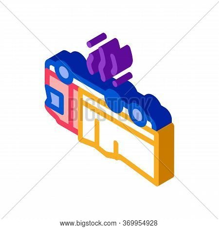 Inverted Car Accident Icon Vector. Isometric Inverted Car Accident Sign. Color Isolated Symbol Illus