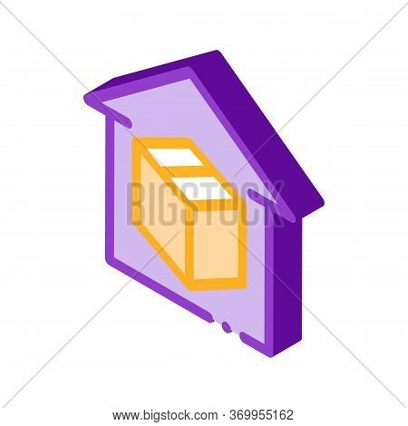 Sending Parcel Icon Vector. Isometric Sending Parcel Sign. Color Isolated Symbol Illustration