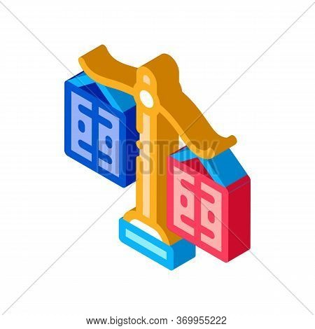 Significance Preponderance Of Different Products Icon Vector. Isometric Significance Preponderance O