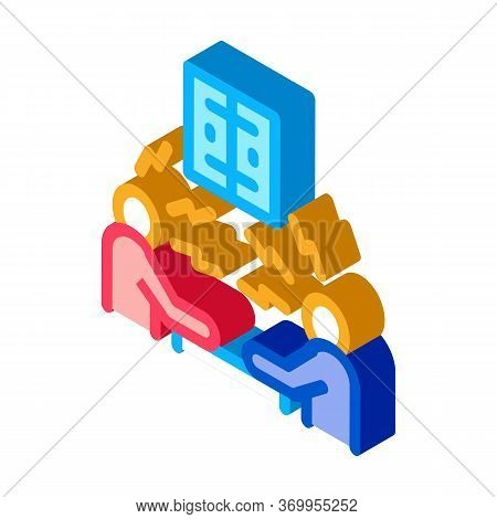 Consumer Outrage Icon Vector. Isometric Consumer Outrage Sign. Color Isolated Symbol Illustration