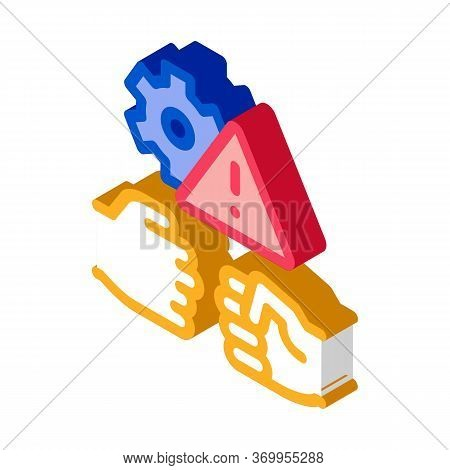 Technical Dispute Icon Vector. Isometric Technical Dispute Sign. Color Isolated Symbol Illustration