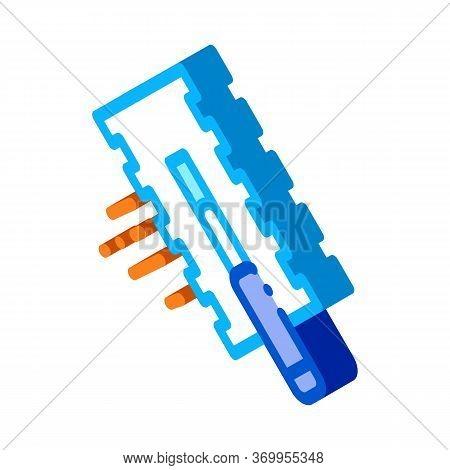 Tile Scraper Icon Vector. Isometric Tile Scraper Sign. Color Isolated Symbol Illustration