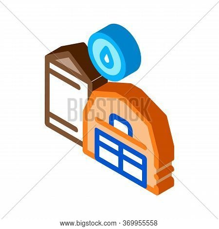 Farm Water Supply Icon Vector. Isometric Farm Water Supply Sign. Color Isolated Symbol Illustration