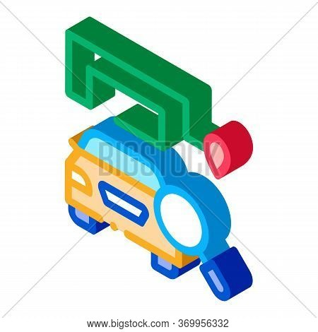 Technical Study Of Machine Icon Vector. Isometric Technical Study Of Machine Sign. Color Isolated Sy