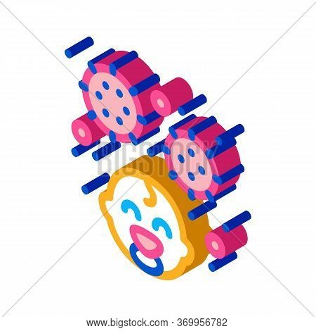 Detected Viruses In Child Icon Vector. Isometric Detected Viruses In Child Sign. Color Isolated Symb
