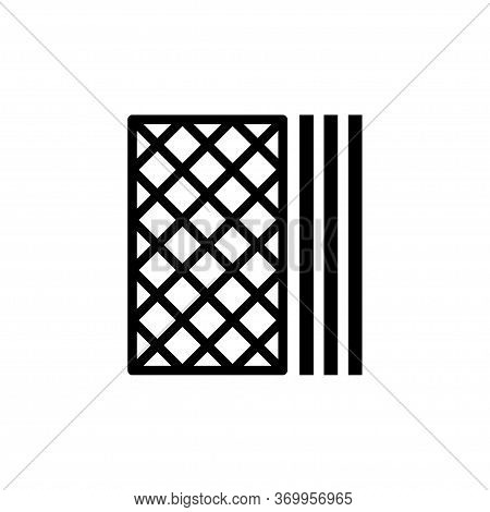 Wafer Icon Flat Vector Template Design Trendy