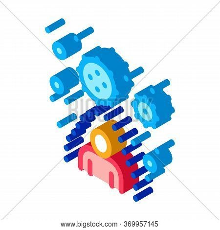 Immunity Human Protection Against Harmful Viruses Icon Vector. Isometric Immunity Human Protection A
