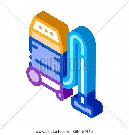 Household Vacuum Cleaner Icon Vector. Isometric Household Vacuum Cleaner Sign. Color Isolated Symbol