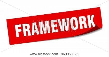 Framework Sticker. Framework Square Sign. Framework. Peeler
