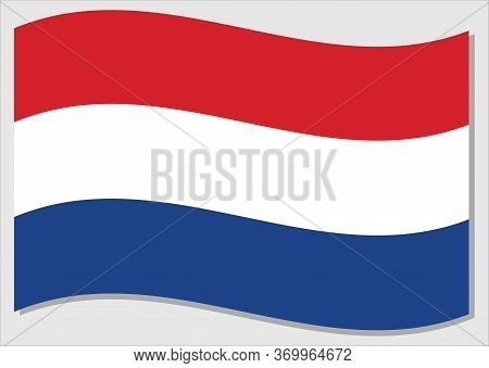 Waving Flag Of Netherlands Vector Graphic. Waving Dutch Flag Illustration. Netherlands Country Flag