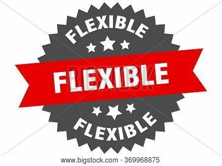 Flexible Sign. Flexible Circular Band Label. Round Flexible Sticker