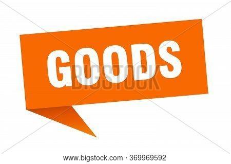 Goods Speech Bubble. Goods Ribbon Sign. Goods Banner