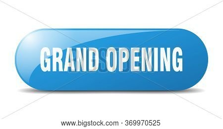 Grand Opening Button. Grand Opening Sign. Key. Push Button.
