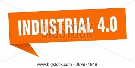 Industrial 4.0 Speech Bubble. Industrial 4.0 Ribbon Sign. Industrial 4.0 Banner