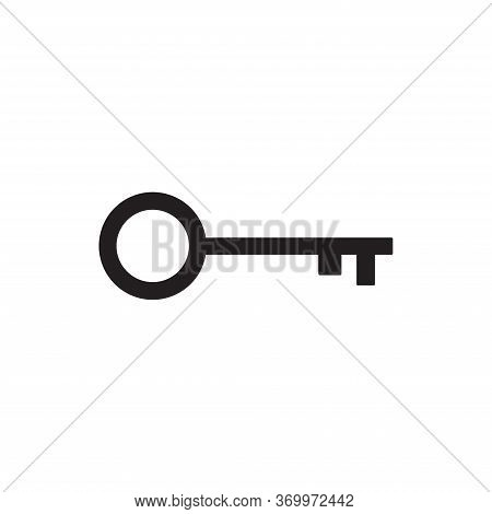 Key Icon Isolated On White Background. Key Icon In Trendy Design Style For Web Site And Mobile App.