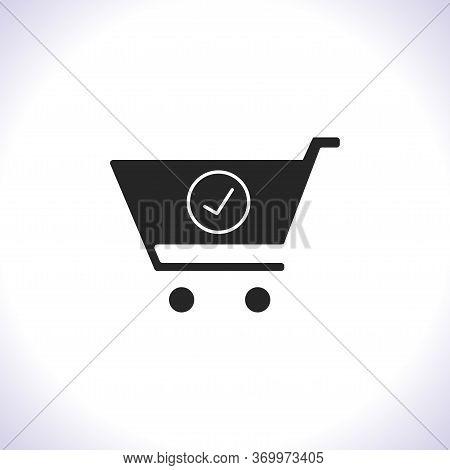 Flat Checkout Icon . Lorem Ipsum Illustration Design