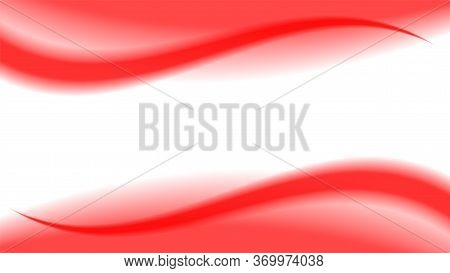 Red Soft Wave Shape Graphic On White Background, Abstract Red Graphic Smooth Shape For Banner Copy S