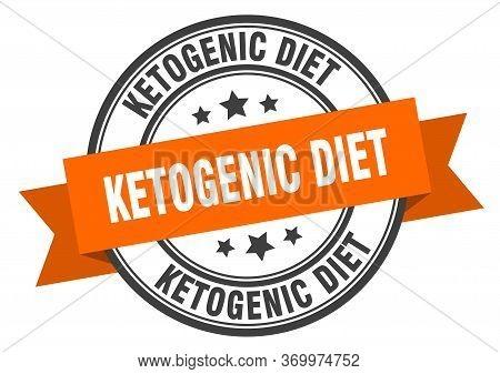 Ketogenic Diet Label. Ketogenic Dietround Band Sign. Ketogenic Diet Stamp