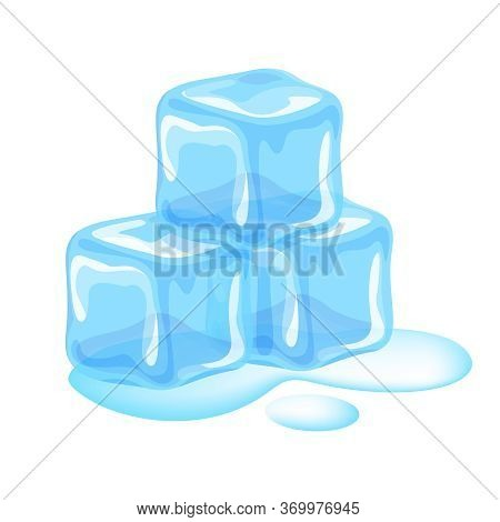 Ice Cubes Isolated On White, Clip Art Three Ice Cubes, Illustrations Pile Of Ice Cubes, Ice Cubes An