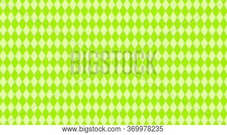 Lemon Green Rhombus Pattern For Background, Geometric Diamond Green For Backdrop, Rhombus Texture Fo