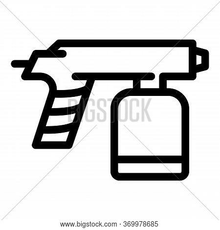 Gun Paint Pistol Icon. Outline Gun Paint Pistol Vector Icon For Web Design Isolated On White Backgro