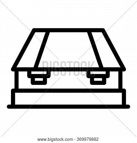 Mechanical Hole Punch Icon. Outline Mechanical Hole Punch Vector Icon For Web Design Isolated On Whi