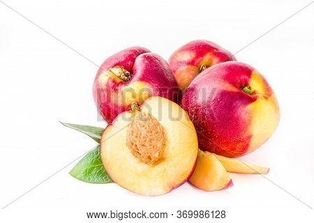 Raw Peaches Isolated On White
