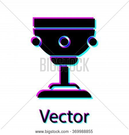 Black Christian Chalice Icon Isolated On White Background. Christianity Icon. Happy Easter. Vector I