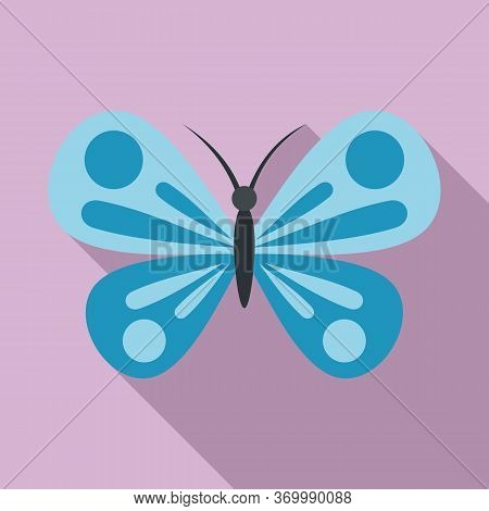 Jungle Butterfly Icon. Flat Illustration Of Jungle Butterfly Vector Icon For Web Design