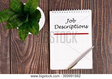 Job Descriptions. Human Resources, Employment, Team Management Work Hiring A New Employee Or Recruit