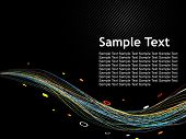 Abstract wave color line Background with sample text. vector illustration poster