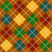 Bold Argyle background pattern in fall colors poster