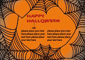 Halloween background with spider\\\'s web 3. You can find similar images in my gallery! poster