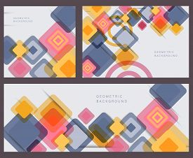 Set of vector fantastic rhombuses modern geometric backgrounds template, abstract backgrounds. Abstract Background.Colorful Abstract Background. Abstract circle geometric pattern design and background. business abstract background. Geometric pattern, tria
